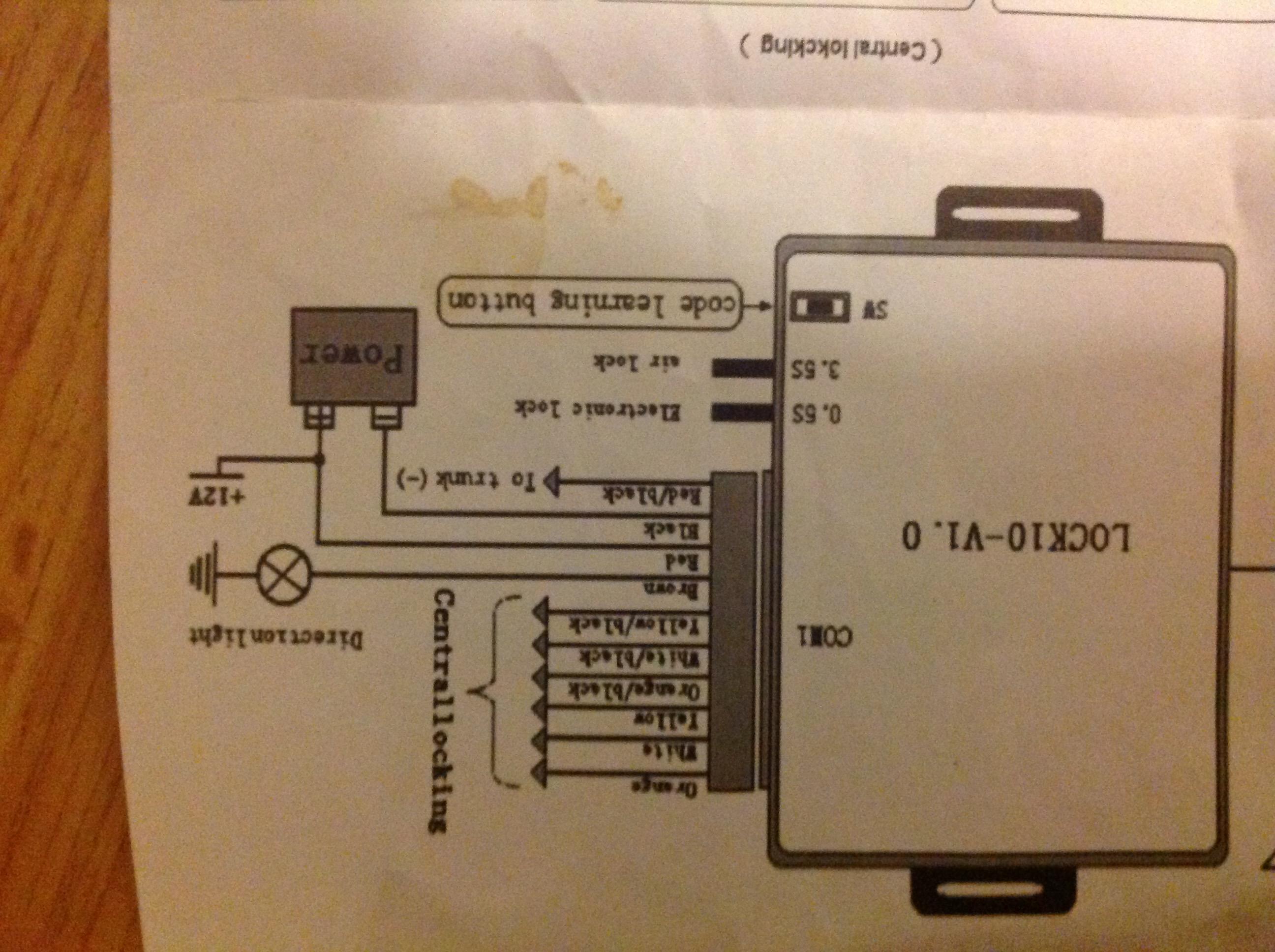 Pajero Central Locking Wiring Diagram